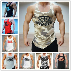 Men Camouflage Sleeveless Tees Fitness Vests GYM Bodybuilding Sports Tank Tops