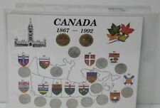 CANADA 1992 125TH ANNIVERSARY OF CONFEDERATION CANADA PROVINCES SET BEAUTY!