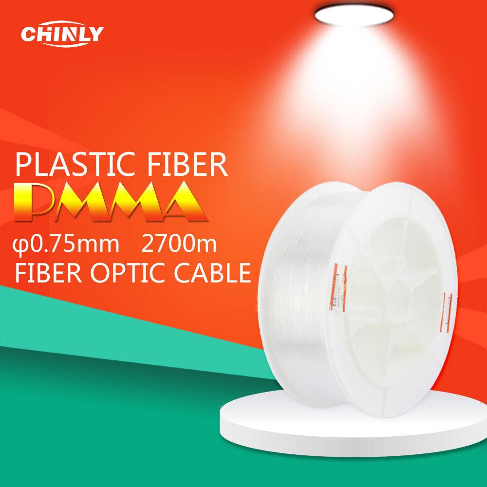 PMMA cable de fibra óptica Luz de Techo Sparkle Flash punto 2700m 0.75mm LED Fibras