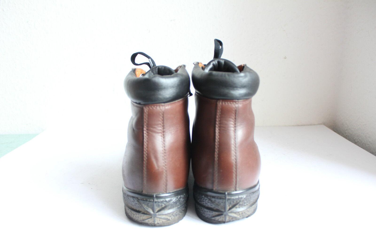 Botana Policka Elegante Stiefeletten Boots Echtleder Braun Eu:43