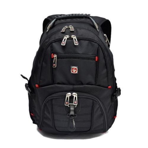 "Waterproof Swiss Gear Men Travel Bag 17"" Original Macbook Laptop Hike Backpack"