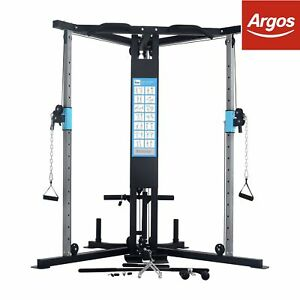 Men s health cable cross over home multi gym ebay