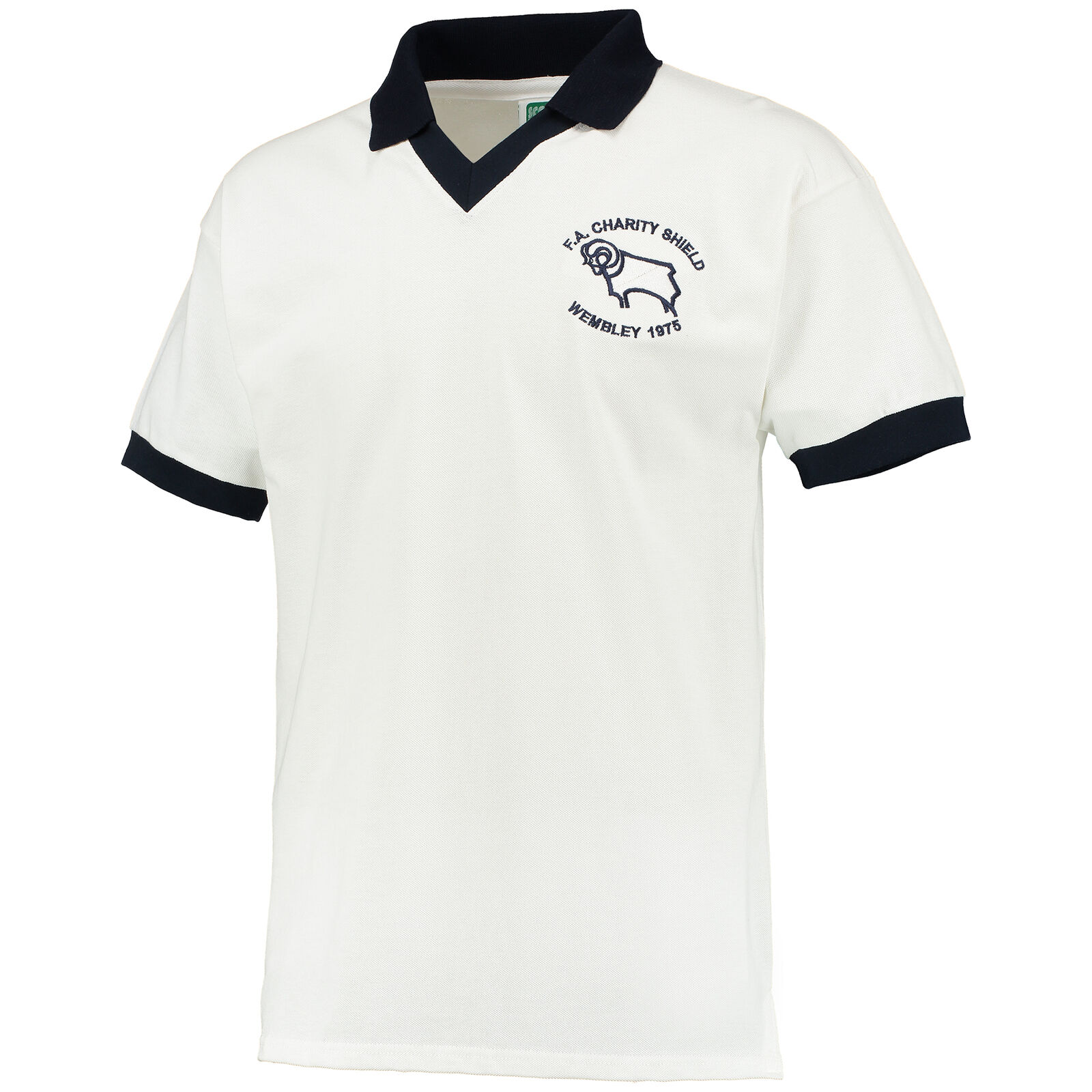Derby County County County 1975 Charity Shield Retro Fußball Shirt Trikot Herren T-Shirt Top 0dcc73
