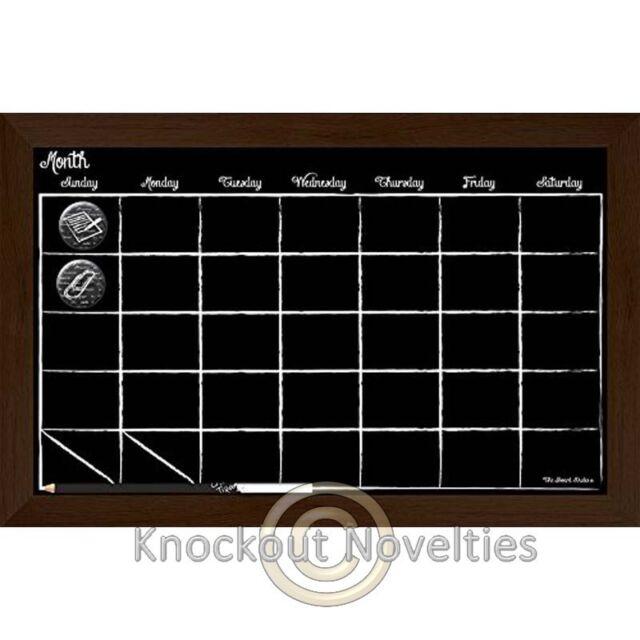The Board Dudes 17 X 11 Chalkboard Calendar Wood Frame Ebay