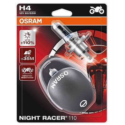 OSRAM H4 NightRacer Night Racer PLUS 110% mehr Licht Moto 2er Set 64193NR1-02B