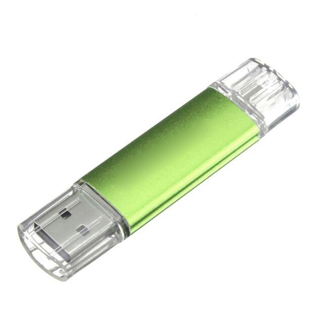 16GB USB Memory Stick OTG Micro USB Flash Drive Mobile PC green G6E8