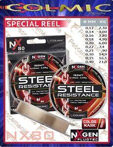 Monofilo-mulinello-Colmic-NXgen-Fluotec-Steel-Resistence-mt-150