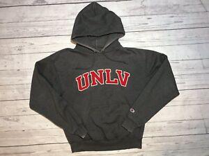 Details zu Vintage Unlv Champion Hoodie Mens Medium Running Rebels Sweater Grey 90s