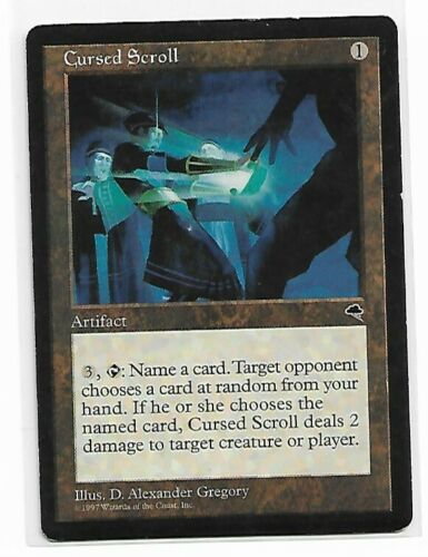 Magic The Gathering ~ 1x Cursed Scroll ~ Tempest ~ MP