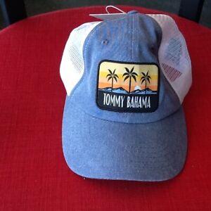 d604d75dd03f02 Tommy Bahama Hat Adjustable Mesh Vented Cap Blue Tropical Palms NEW ...