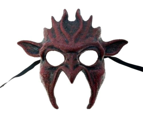 Bloody Red Goblin Half Mask Adult Dark Gothic Gremlin Women/'s Costume Accessory