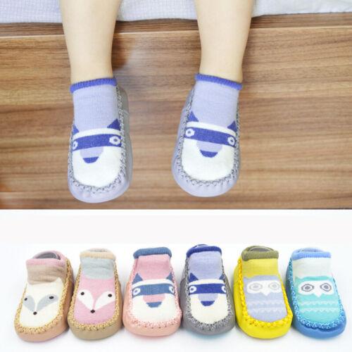 Newborn Baby Toddler Cartoon Socks Anti-slip Sock Shoes Crawling Socks Shoes UK