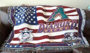 "Arizona Diamondbacks 2001 World Series Champions Throw Blanket 44"" X 58"""