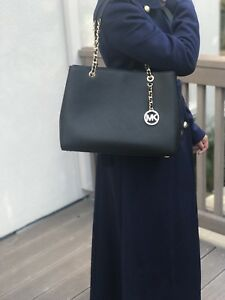 4702883ee60a Image is loading NWT-Michael-Kors-Susannah-Large-Tote-Saffiano-Leather-