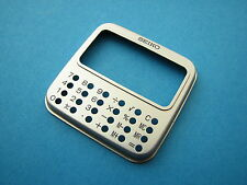 NEW/NOS RARE Vintage OEM Seiko LCD Digital calculator watch face plate (silver)