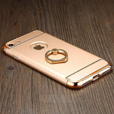 Luxury Electroplate Finger Ring Holder Stand PC Case Cover For iPhone 7 7 Plus