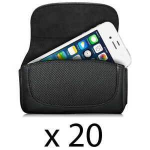 Lot of 20 Fosmon Universal Leather Pouch Case for HTC HD2 EVO 4G iPhone 5 5s SE