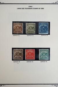 Chile-Telegraph-Stamp-Lot