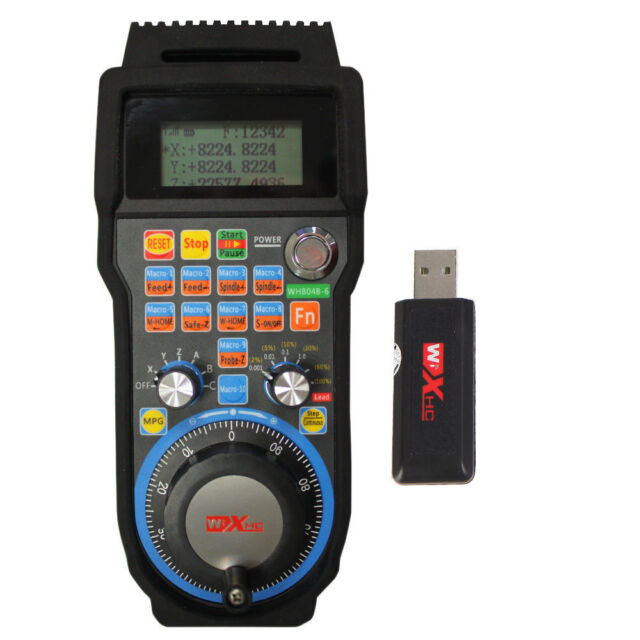 CNC MACH3 4 Axis Wireless Electronic Handheld Handwheel Controller Pendant Pulse