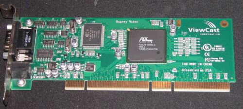 ViewCast Osprey 230 PCI-X Analog Video Audio Capture Card Full Profile HD-15