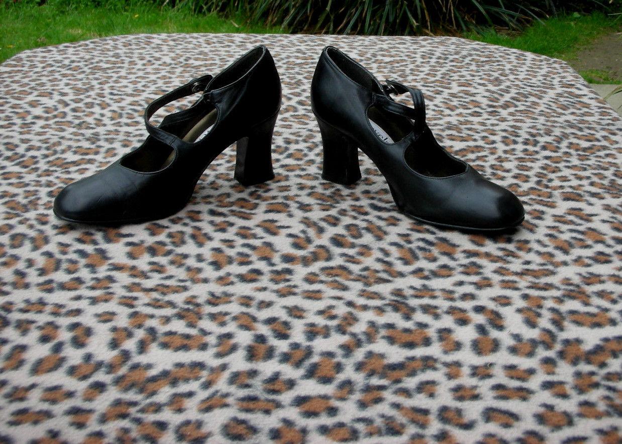 Vintage Carvela schwarz leather high heeled schuhe UK UK UK Größe 3.5 EU Größe 36.5 755a78