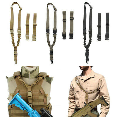 Best Tactical 1 Single Point Adjustable Bungee Rifle Gun Sling System Strap GA