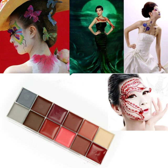 12in1 Flash Color Cosmetic Case Makeup Palette Beauty Tool for Eyes Cheeks Lips