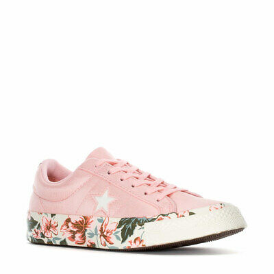 Converse Womens One Star Ox Parkway Floral Canvas PinkEgret 262822C Sizes 8 9 | eBay