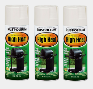 Details About 3 Rust Oleum High Heat Spray Paint Bbq White Stops Rust Stoves Grills Engines