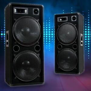 3000-Watt-Fete-Discotheque-ETAPE-Evenement-DJ-PA-3-WEGE-caisson-haut-parleur-Pro
