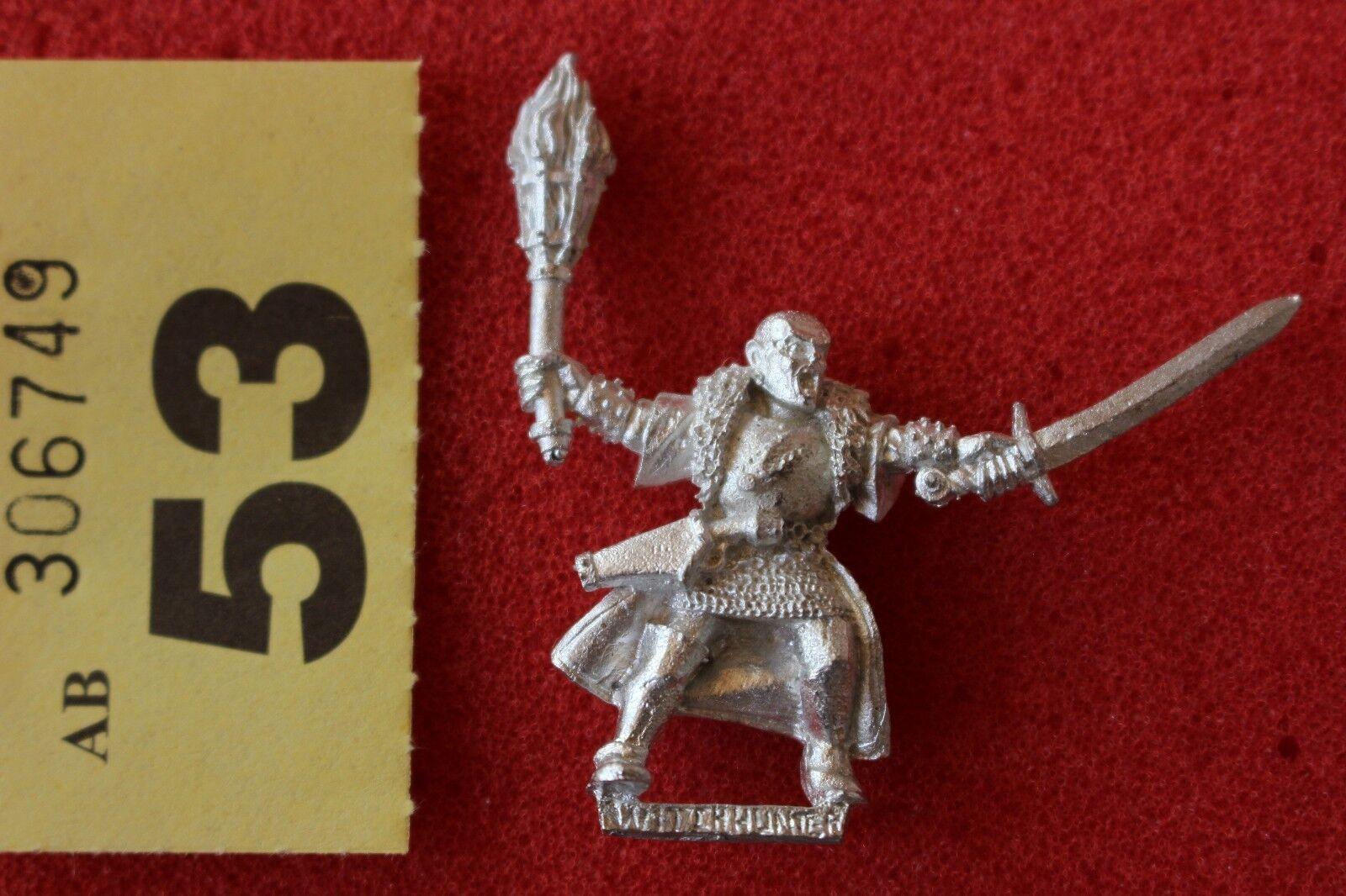 Games Workshop Mordheim Mordheim Witch Hunter 4 Warhammer Metal Figure Mint OOP