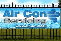 Air Conditioning Servicing Printed Banner Outdoor/Indoor Garage Sign Eyelets