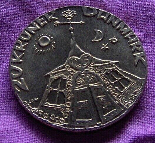 Danmark, mønter, 20 Kroner