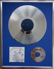 """Metallica and Justice gerahmte CD Cover +12"""" Vinyl goldene/platin Schallplatte"""