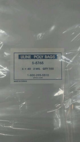 100 Clear 10 X 14 Poly Bags Lay Flat Open Top Plastic Packing Uline Best 1 Mil for sale online