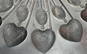 Vintage 12\u201d Rubber Pewter Spin Casting Mold Fancy Fan Shell Cornucopia Shaped Brooch Pin Applique Decorative Vulcanized Rubber Jewelry Mold