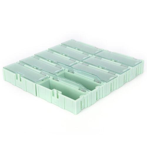 10X Anti-static SMT SMD Kit Lab chip Components Screw Storage Box Case TE