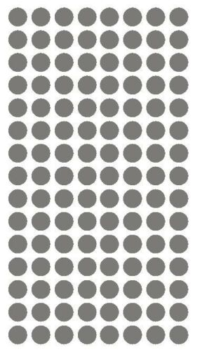 """1//4/"""" Dk GREY GRAY Round Color Coding Inventory Label Dots Stickers MADE IN USA"""