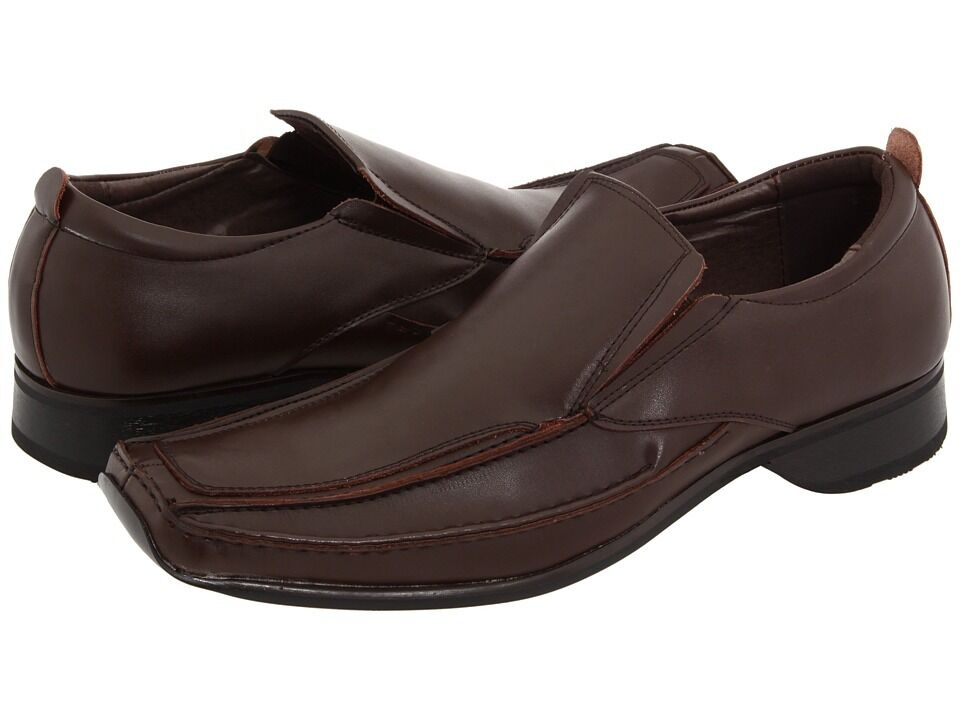 NIB ZENGARA LEATHER DR BROWN SLIP ON LOAFER  Slip Ons SHOES SZ 11