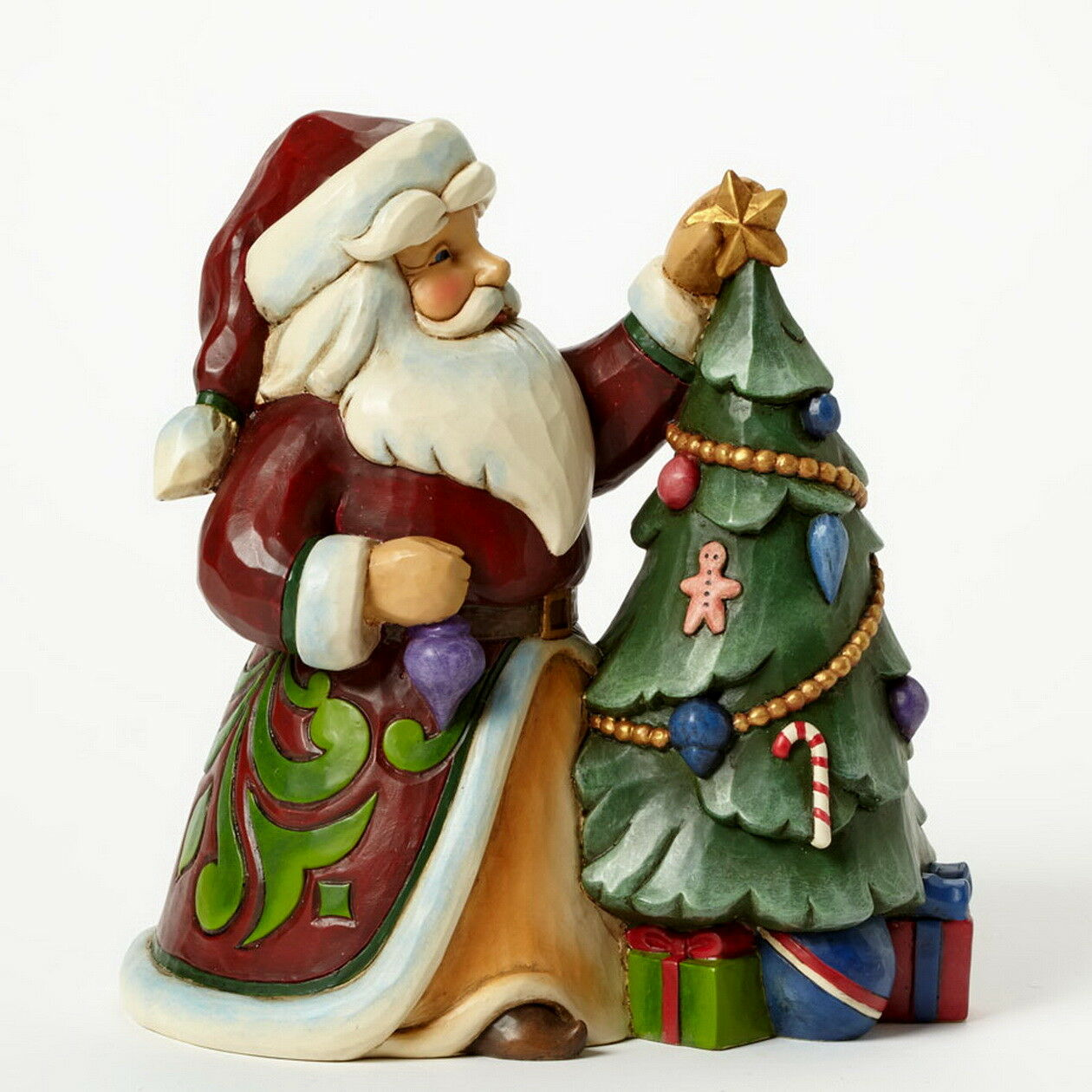 Jim Shore Figur 4044069 4044069 4044069 - ENESCO CHRISTMAS Skulptur -  Santa Decorating Tree  | Stabile Qualität