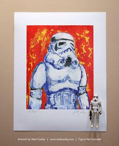 Star Wars STORMTROOPER Vintage Kenner Action Figure ORIGINAL ART PRINT 3.75 1977