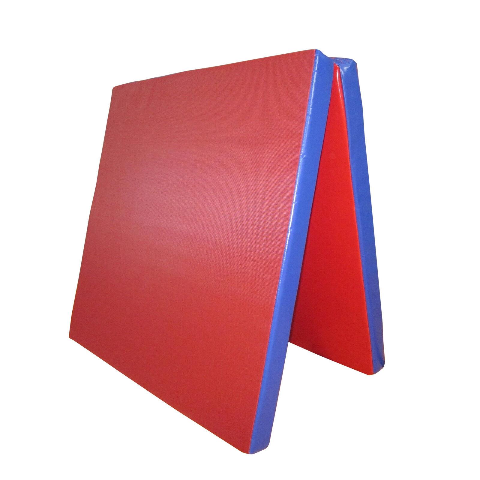 Grevinga® VITAL klappbare Turnmatte | ROT-BLAU 200 x 100 x 6 cm RG 22 (138246-)