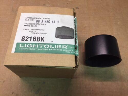 LIGHTOLIER TRACK SHADES IN MATTE BLACK