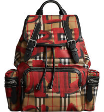 item 1 new BURBERRY The Medium Graffiti Print Vintage Check Canvas and  Leather Rucksack -new BURBERRY The Medium Graffiti Print Vintage Check  Canvas and ... 42acd00aa646d