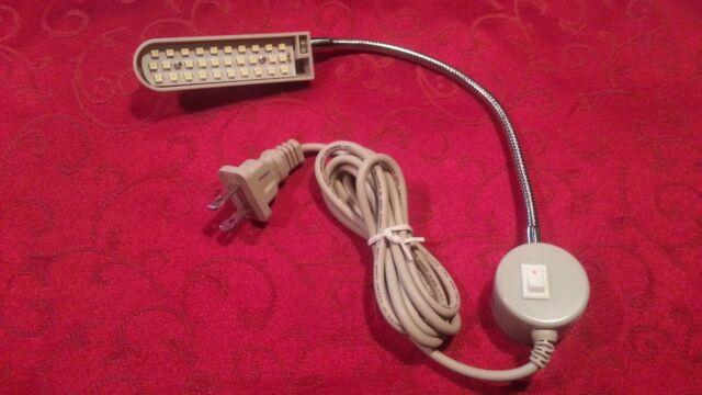 30 Led Light Lamp Magnetic Magnet Base Goose Neck Work, Craft,Dorm, Bench 20 +10