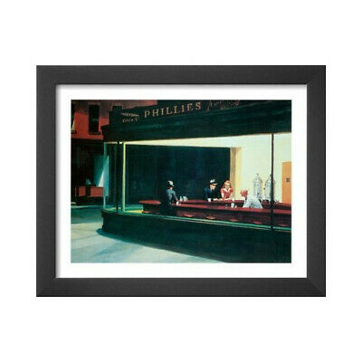1942 by Edward Hopper Art Print Cityscape Diner Poster 34x21.5 Nighthawks
