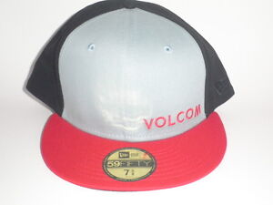 bbcbb83ff83 ... inexpensive image is loading volcom new era 59fifty chosen hat black  red 07b54 c64e1