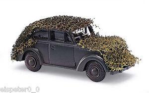 Busch-41104-Opel-Olympia-con-Red-Camuflaje-H0-Modelo-a-Escala-1-87-Militar