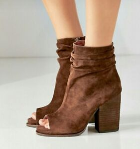 Jeffrey-Campbell-Sandal-Boot-Brown-Suede-Side-Slight-Platform-Zip-Ankle-8-NEW