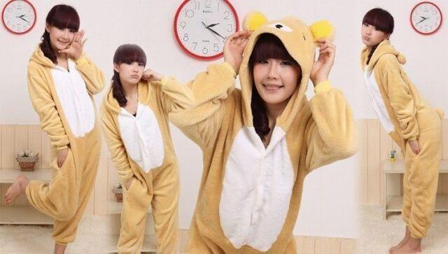 Unisex Adult Kigurumi Pajamas Anime Cosplay Costume Onesie Sleepwear Bear